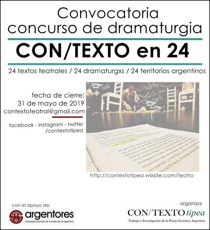 Concurso de dramaturgia argentina CON/TEXTO en 24